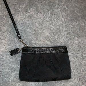 Bags - Black Coach Wristlet